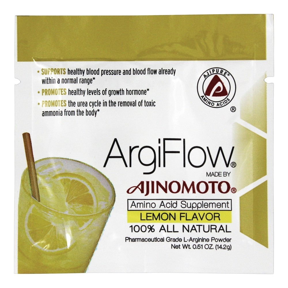 AjiPure - ArgiFlow 100% All Natural Amino Acid Supplement Lemon Flavor - 0.51 oz.