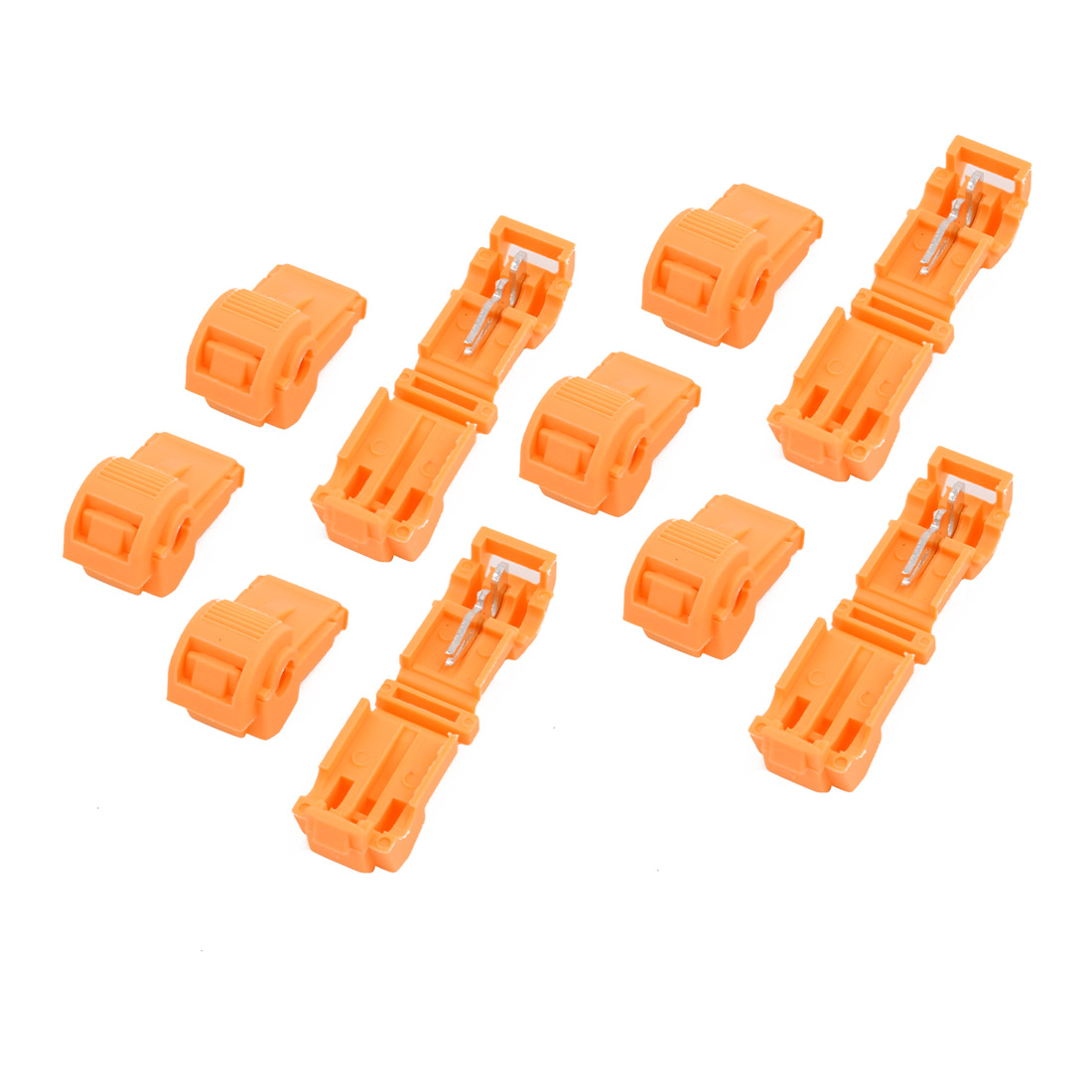 10 Pcs Self-Stripping Electrical T-Tap Wire Spade Terminal Crimp Kit Yellow - image 2 of 2