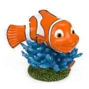 Penn Plax Finding Nemo on Coral 6 in. Aquarium Ornament