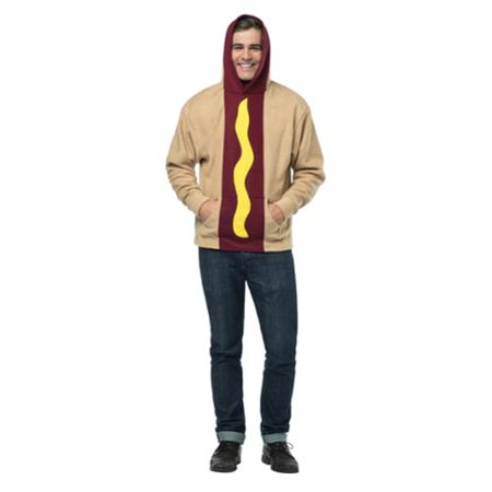 Hot Dog Hoodie Adult Costume Plus