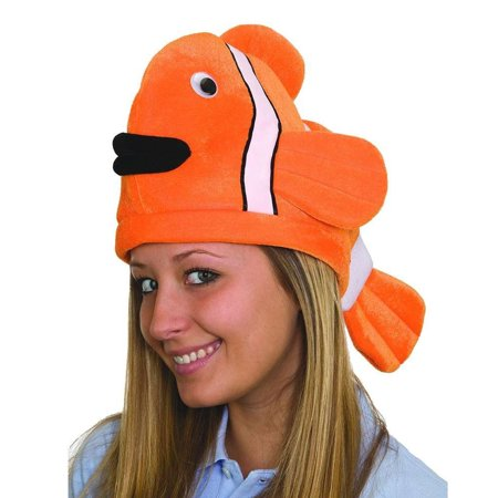 Stuffed Plush Clown Fish Nemo Hat Deep Sea Party Cap Costume - Clown Hat Pattern