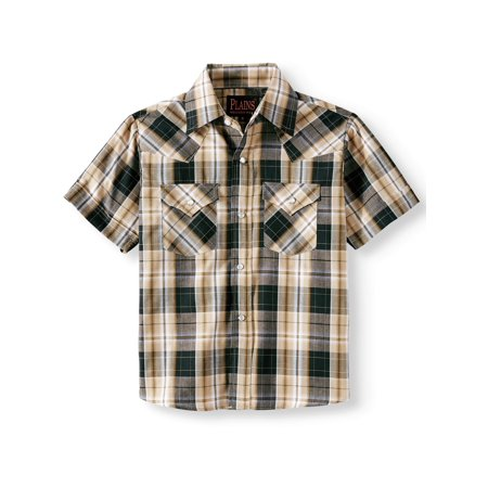 Plains Short Sleeve Plaid Western Shirt (Little Boys & Big Boys)