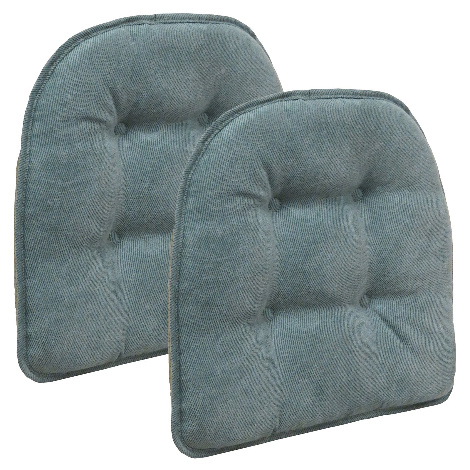 "Gripper Non Slip 15"" x 16"" Nouveau Tufted Chair Cushions, Set of 2"
