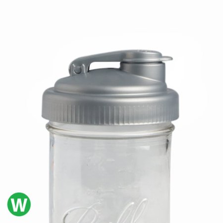 reCAP Mason Jars POUR, Wide Mouth, Canning Jar Lid, Silver](Silver Mason Supply)