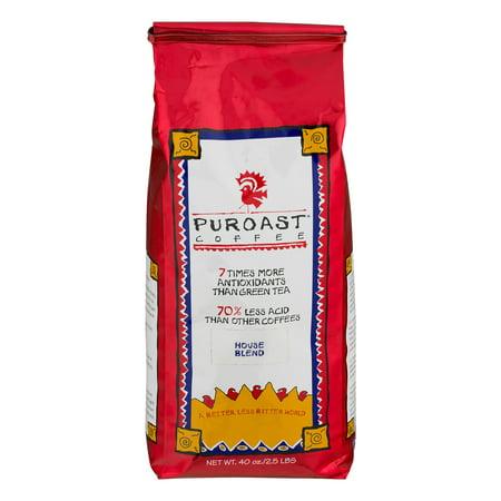 Puroast Coffee Beans House Blend, 40.0 OZ