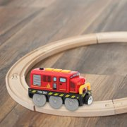 Horypt Railway Locomotive Magnetically Connected Electric Small Train Magnetic Rail Toy Compatible with Track Present for Boy Girls Kids