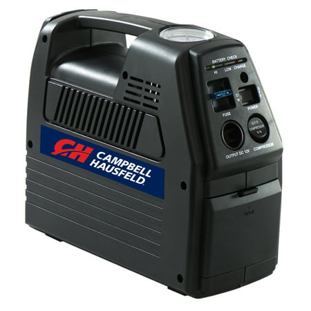 Campbell Hausfeld 12V Rechargeable Inflator & Power Supply (Best Air Compressor Inflator)
