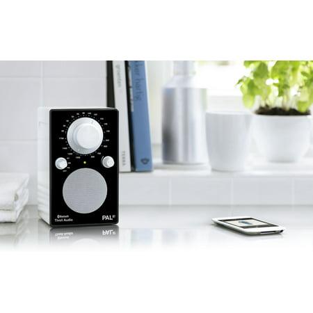Tivoli Audio PALBTGBLK PAL BT Bluetooth Portable AM/FM Radio (High Gloss Black/White)