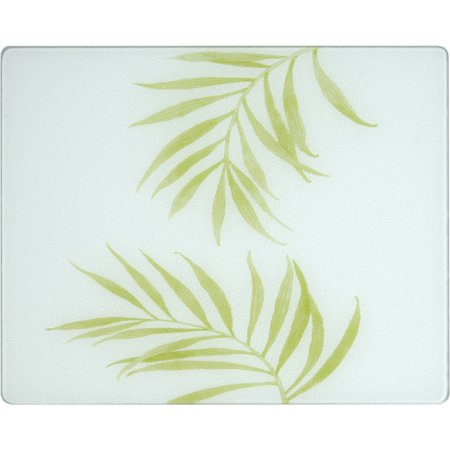 Corelle Bamboo Leaf 20 X 16 inch Counter Saver Tempered Glass Cutting Board, 92016BLH