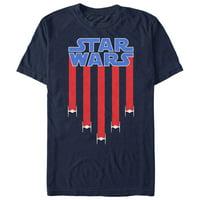 Star Wars Men's Fourth of July TIE Fighter Stripes T-Shirt