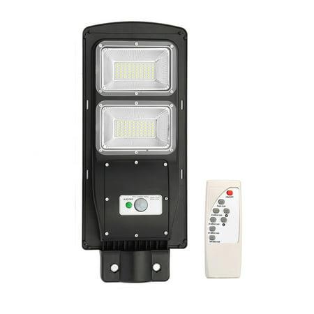 Image of 60W 90W LED Polycrystalline Solar Street Wall Light, Waterproof Radar Induction + Remote Control + Light Control Dusk To Dawn Outdoor IP67 For Garage/Courtyard/Garden