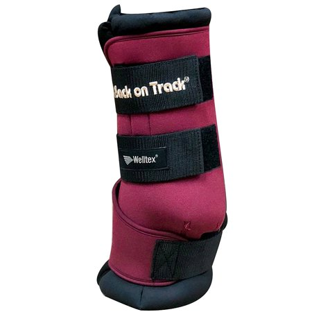 "14"" BACK ON TRACK RELAXED MUSCLES TENDONS JOINTS LIGAMENTS HORSE WRAPS BURGUNDY"