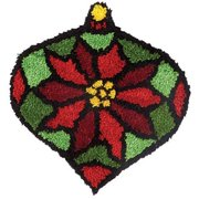 Herrschners® Stained Glass Poinsettia Latch Hook Kit