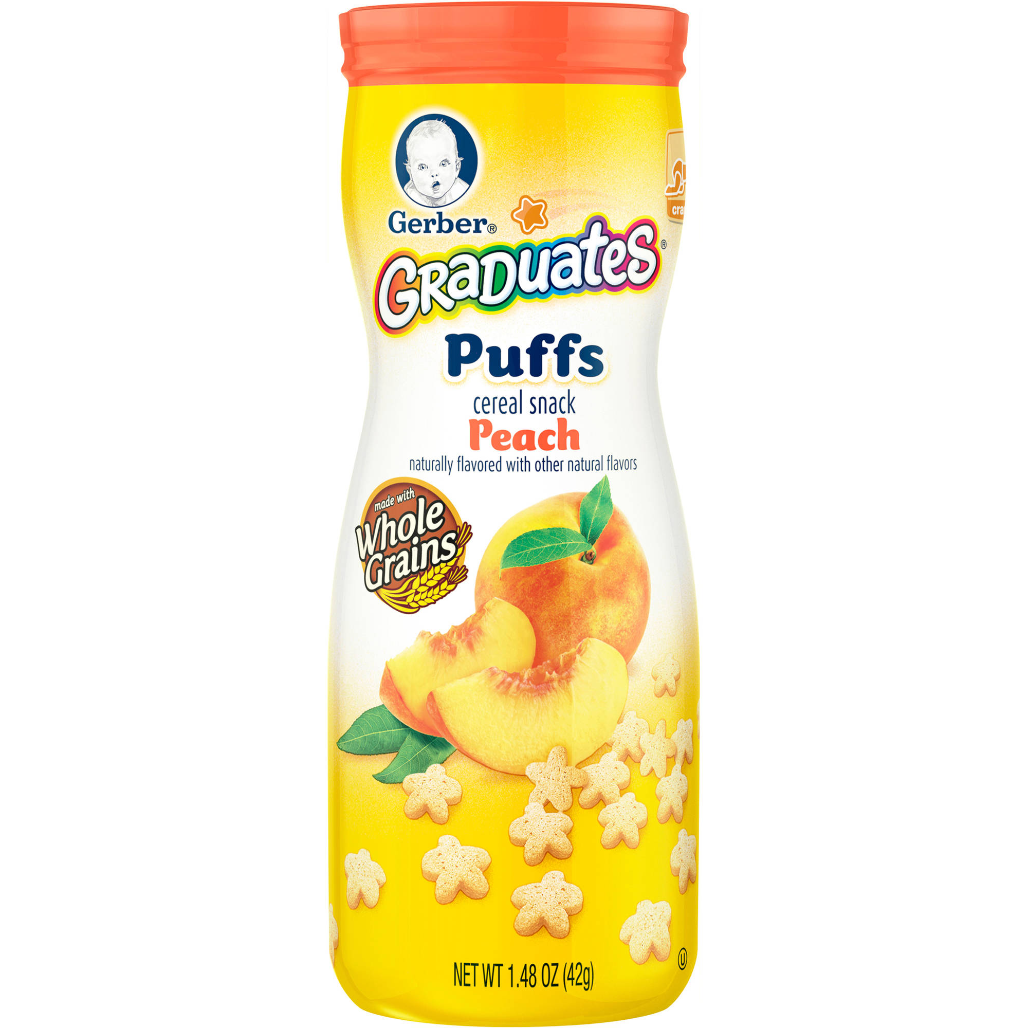 Gerber Graduates Puffs Peach Cereal Snack, 1.48 oz