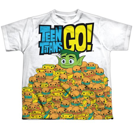 Teen Titans Go! Beast Boy Burgers & Dogs Boys Youth Front Print T-Shirt Tee ()