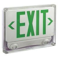 LUMAPRO Exit Sign/Emergency Light,120/277V,White 35GX01