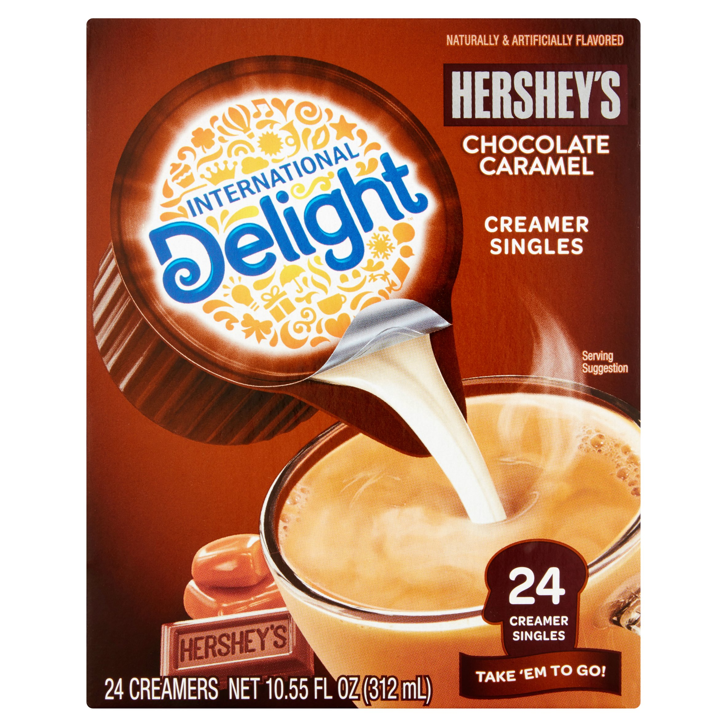 International Delight Hershey's Chocolate Caramel Mini I.D.'s Coffee Creamer, 0.4375 fl oz, 24 ct