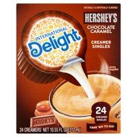 (4 Pack) International Delight Hershey's Chocolate Caramel Creamer Singles, 24 count
