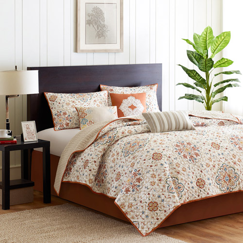 Home Essence Neda 6-Piece Coverlet Bedding Set, Ivory