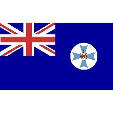 3x5 Queensland Flag Australia Banner Australian State Pennant Indoor Outdoor New ()