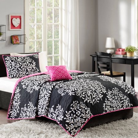 Better Homes And Gardens Black White Damask Quilt Set