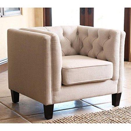 Abbyson Living Torra Fabric Arm Chair In Espresso