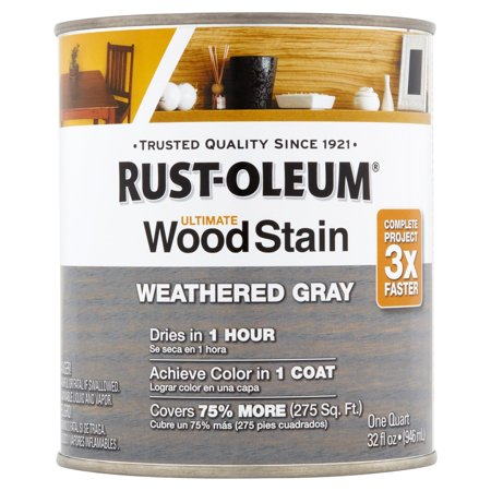 - Rust-Oleum Weather Gray Ultimate Wood Stain, 32 fl oz