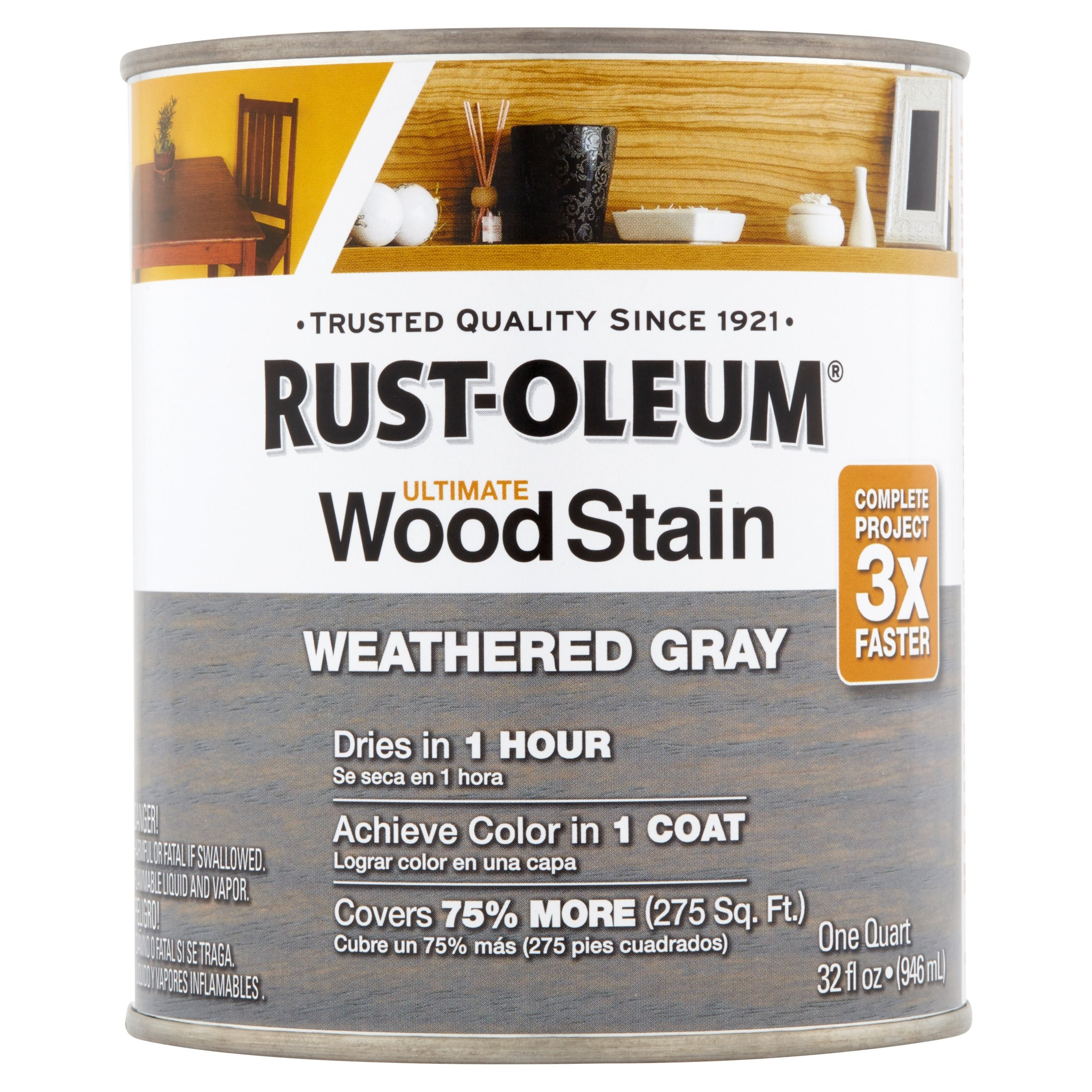 Rust-Oleum Weather Gray Ultimate Wood Stain, 32 fl oz