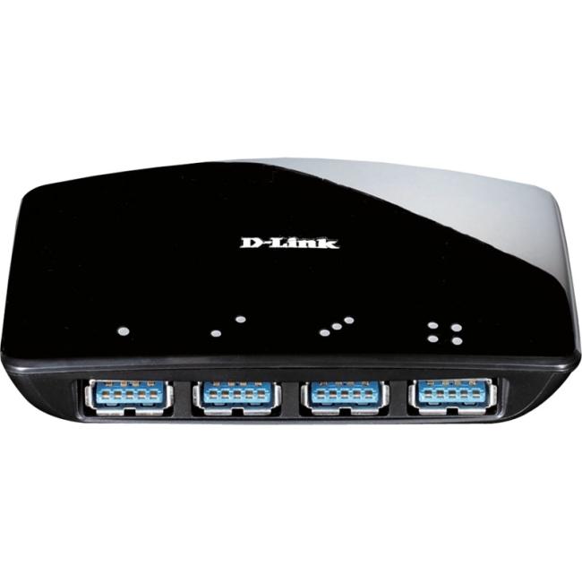 D-Link DUB-1340 4-port USB Hub - USB - External - 4 USB Port(s) - 4 USB 3.0 Port(s)