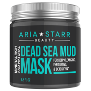 Aria Starr Dead Sea Mud Mask For Face, Acne, Oily Skin & Blackheads - Best Facial Pore Minimizer, Reducer & Pores Cleanser Treatment - Natural For Younger Looking Skin 8.8oz