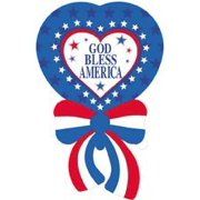 "4th Fourth of July ""God Bless America"" 42"" Mylar Balloon Party Decorations Supplies"