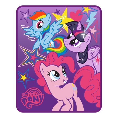 - My Little Pony Kids Silk Touch Throw, Twin Size, feat. Twilight Sparkle, Rainbow Dash and Pinkie Pie