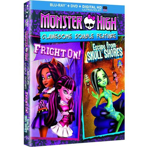 Monster High: Clawesome Double Feature - Escape From Skull Shores / Fright On (Blu-ray   DVD   Digital HD) (With INSTAWATCH) (With INSTAWATCH) (Widescreen)