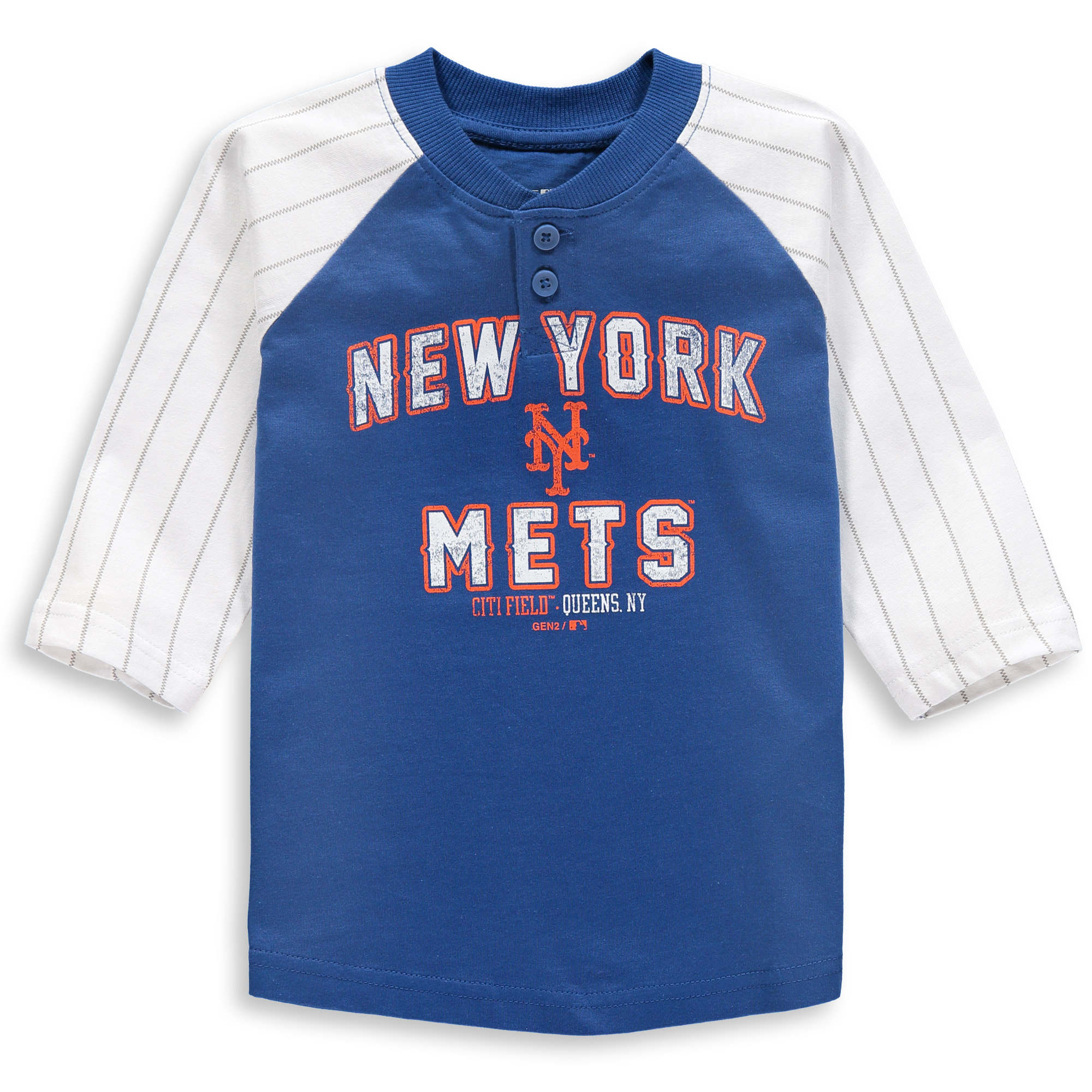 New York Mets Toddler The Original 3/4-Sleeve T-Shirt - Royal