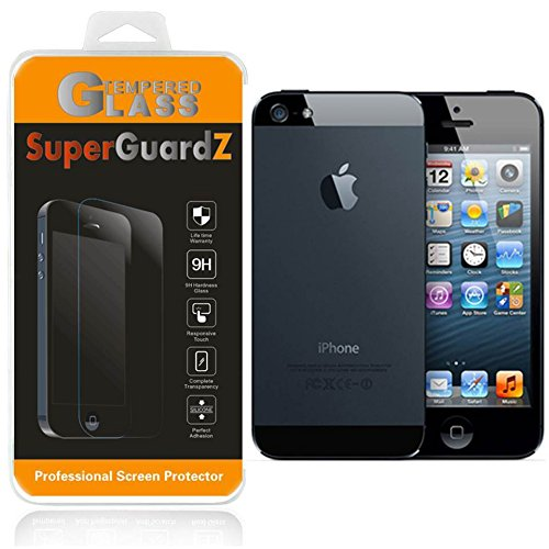 For iPhone SE / 5S / 5C / 5 - SuperGuardZ FULL BODY [Front + Rear] Tempered Glass Screen Protector, 9H, Anti-Scratch, Anti-Bubble, Anti-Fingerprint