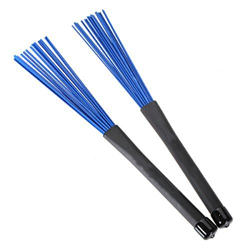 Tinksky A Pair of Retractable Telescopic Handles Percussion Drum Brushes Sticks for Jazz Rock