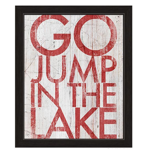 Click Wall Art Go Jump In The Lake Framed Textual Art