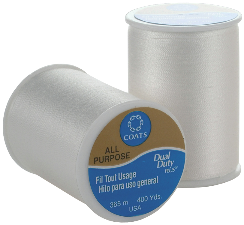 Coats & Clark All Purpose Thread 400 Yards White (ONE spool of yarn) Multi-Colored