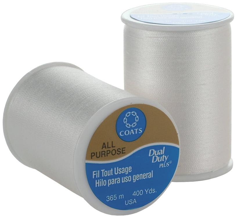 Coats & Clark All Purpose Thread 400 Yards White (ONE spool of yarn) Multi-Colored