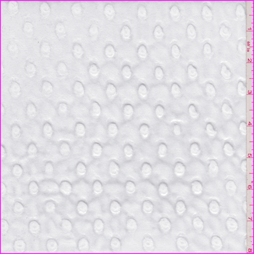 White Snow Minky Dot, Fabric By the Yard