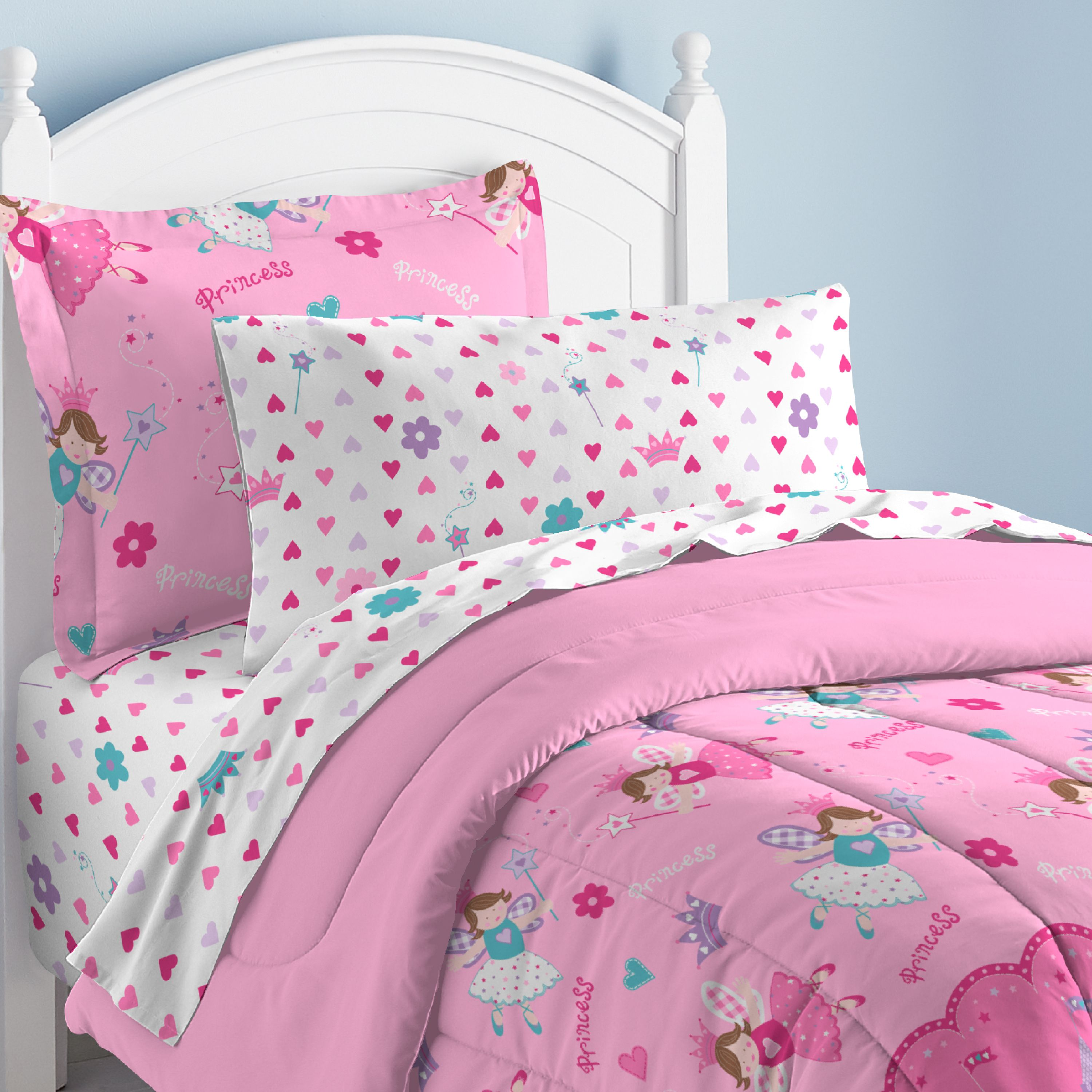 Dream Factory Magical Princess Mini Bed in a Bag Bedding Set