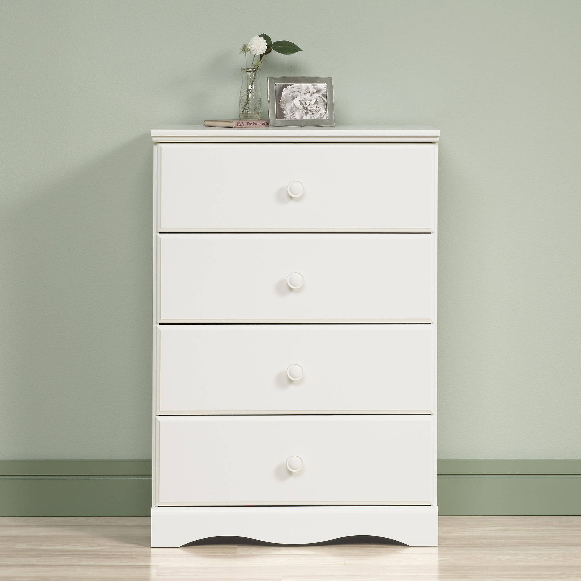 Sauder Storybook 4-Drawer Dresser, Soft White finish