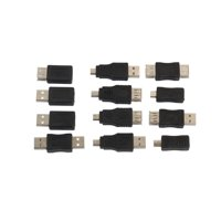 12 Pcs/set EDAL OTG USB2.0 Adapter Data Plug Convertor Male to Female Micro USB Mini Changer Adapter Convertor