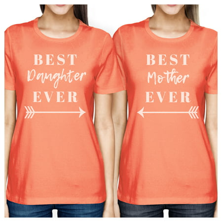 Best Daughter & Mother Ever Peach Womens Graphic T