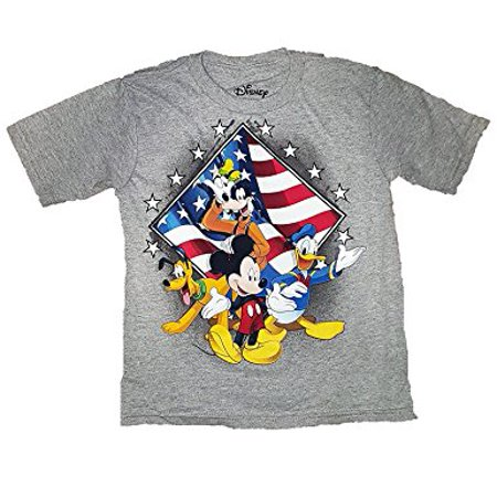 [P] Disney Boys' Mickey Mouse, Donald Duck, Goofy & Pluto USA Fashion Top T Shirt (SM/4)