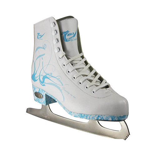 American Athletic Girls'/Women's Sumilon-Lined Ice Skates with Turquoise Outsole
