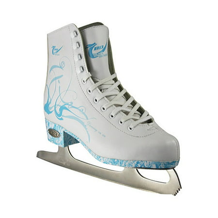 American Athletic Girls'/Women's Sumilon-Lined Ice Skates with Turquoise (Leather Womens Ice Skates)