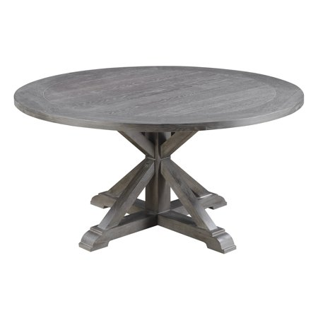 Emerald Home Paladin Rustic Charcoal Gray 60 Round Dining Table With Top And