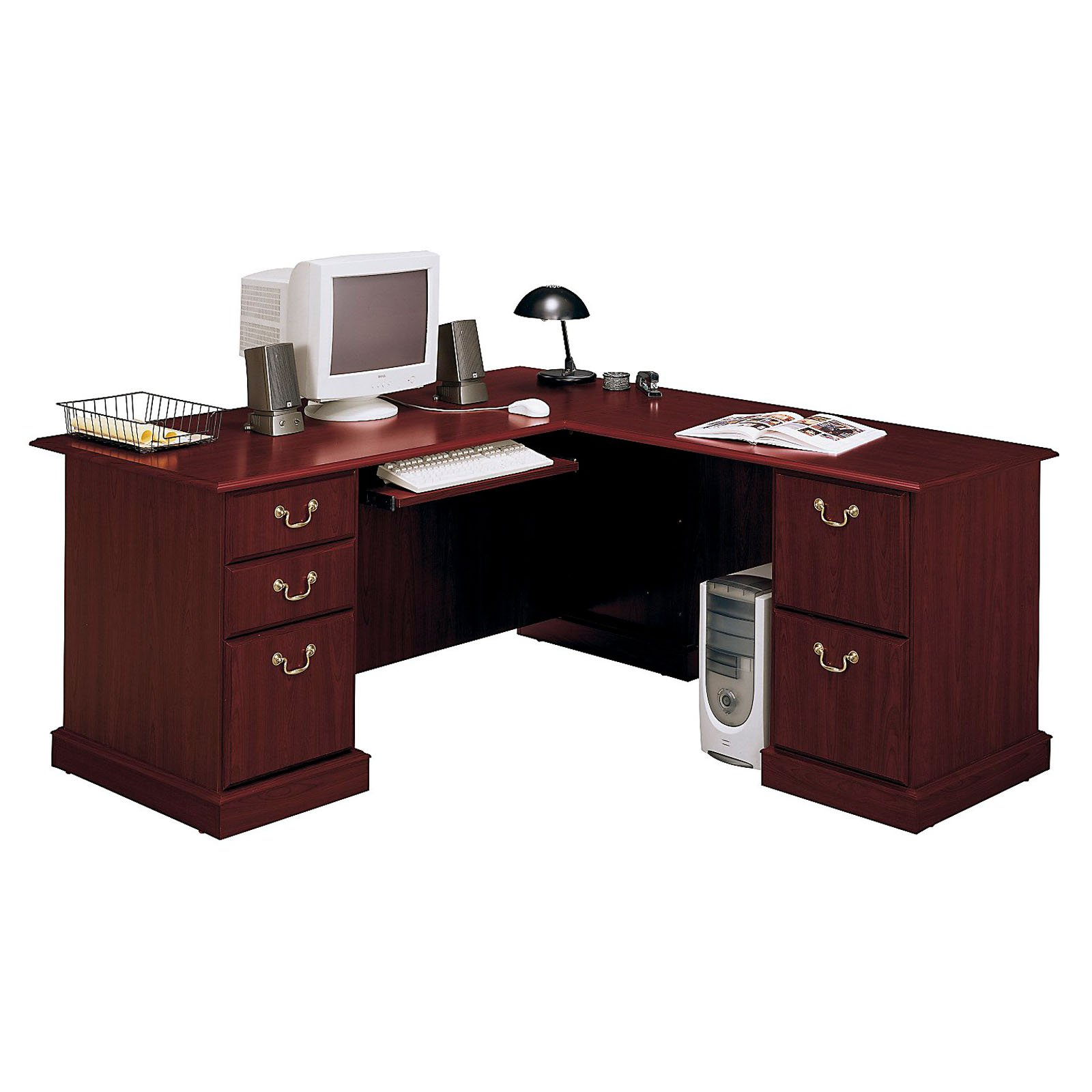 Bush Saratoga L Shaped Computer Desk   Walmart.com