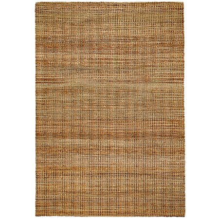 Natural Fiber Hebrides 8 ft. x 10 ft. Hand Woven / Hand Loomed with Jute & chenille in India Rustic Modern Abstract Distressed Solid Brookside Hebrides Indoor Rectangle Area (Rectangle Solid)